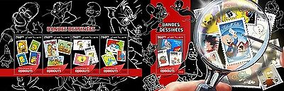 Z08 DJB16520ab DJIBOUTI 2016 Cartoon stamps MNH Set