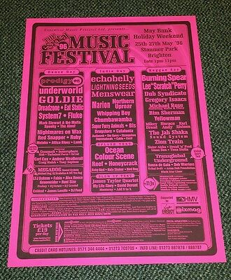 Poster Lee Perry Burning Spear Dub Syndicate Super Furry Animals Prodigy 1996