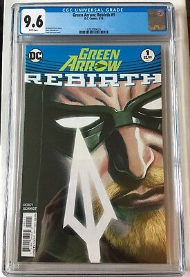 GREEN ARROW REBIRTH #1 CGC 9.6 (NM+) COVER A - Sold Out! Not 9.8