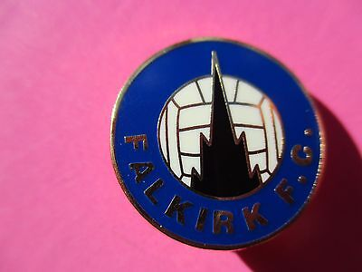 OLD..FALKIRK FOOTBALL CLUB..BLUE & WHITE with GILT..GILT BACKED PIN BADGE