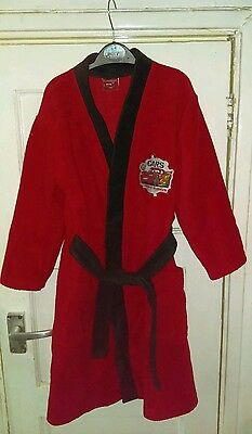 boys 5-6 years lightning mcqueen dressing gown