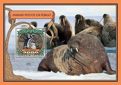 Z08 IMPERFORATED GB16705b GUINEA-BISSAU 2016 Endangered animals MNH