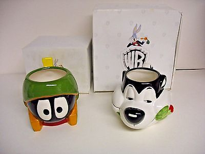 Applause Warner Bros. Pepe Le Pew Marvin Martian Looney Tunes Mugs Never Used
