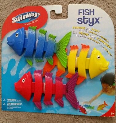 Swimways Fish Styx (3-pack) dive toys for water pool NEW