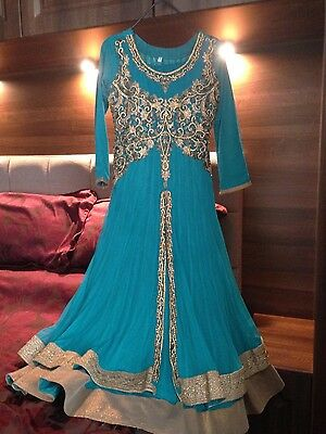 Ladies Indian turquoise dress
