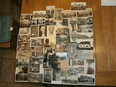 50 Old vintage postcard collection  places people scenery Ref 3
