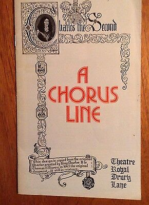 A Chorus Line programme from The Theatre Royal Drury Lane