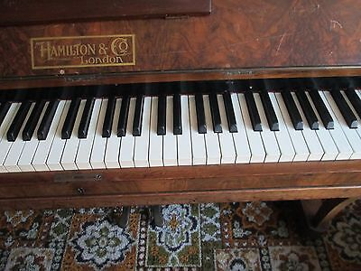 Vintage Upright Piano + Hamilton & Co  London Makers +In Need Of Some Tlc. + Ts5