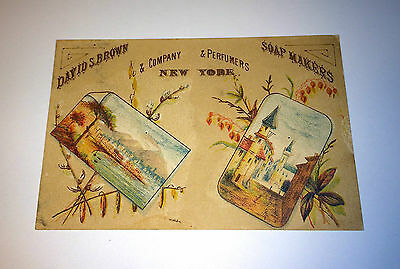 Antique Victorian Soap, Perfume Makers Advertising New York Calendar Trade Card!