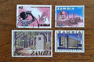 ZAMBIA stamps - mini collection 7 stamps (1960's onward)