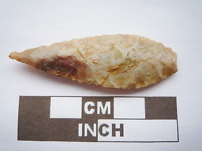 Neolithic Spearhead 54mm, High Quality Saharan Flint Artifact - 4000BC  (Q041)