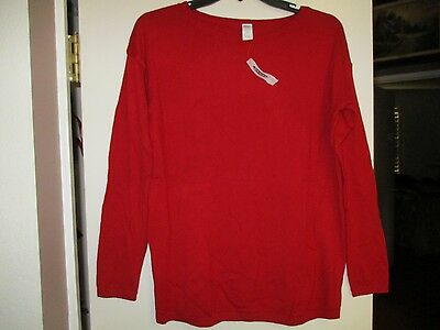Old Navy Maternity XS Extra Small Red Lightweight Sweater Nwt New Motherhood