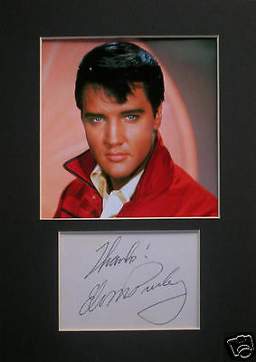 Elvis Presley signed mounted autograph 8x6 photo print display  #B
