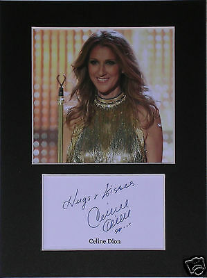 Celine Dion  signed mounted autograph 8x6 photo print display  #B2