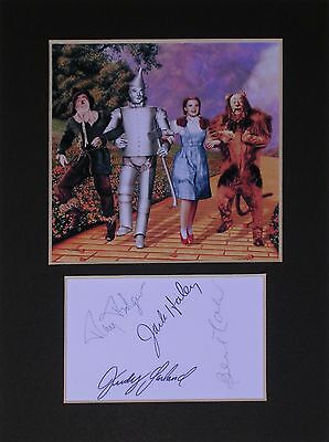 Wizard of Oz signed mounted autograph 8x6 photo print display