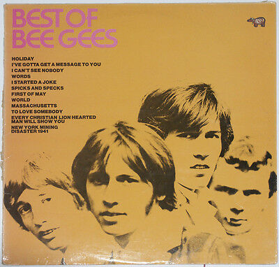 Bee Gees THE BEST OF LP A2 B2 WORDS, MASSACHUSETTS 1969