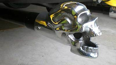 "Polished Skull Exhaust Tip - 2.5"" Inner Diameter - Made in USA!!!"