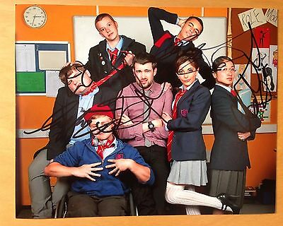 "Bad Education Cast Hand Signed 8x10"" Autograph"