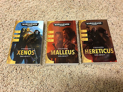 Black Library Eisenhorn trilogy: Xenos, Malleus, Hereticus from the 40K universe