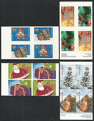 Norway 2001-2005 - Selfadhesive Christmas Stamps - Mint Never Hinged - Very Fine