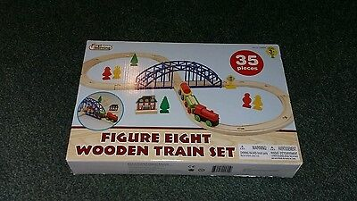children game figure of eight wooden train age 3 plus