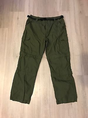 Peter Storm Double Zip Off Walking Trousers Green  34R Brand New Without Tags
