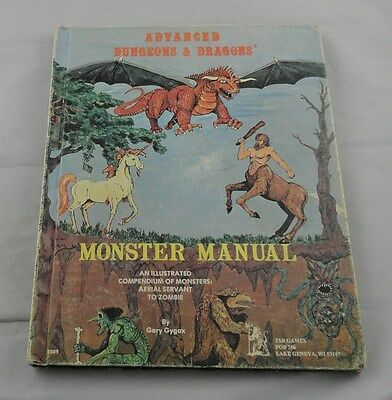 Advanced Dungeons & Dragons TSR2009 AD&D 1978 Monster Manual 2nd PRINTING!