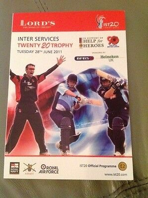 Lords, inter service, cricket programme June 2011