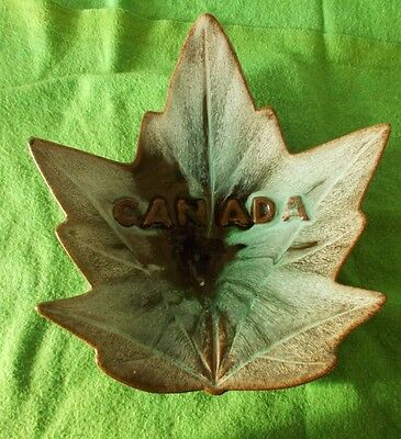 Evangeline Vintage Pottery mountain blue maple Leaf Canada 1960's numbered 9