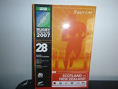 Rugby World Cup 2007  Programme Scotland V New Zealand