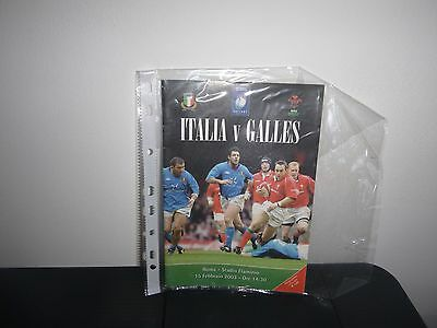 Italy V Wales  Rugby Programme 2003