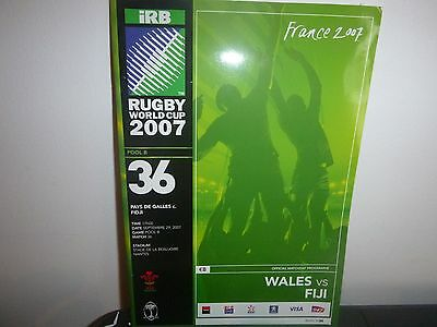 Rugby World Cup 2007   Match Programme  Wales V Fiji