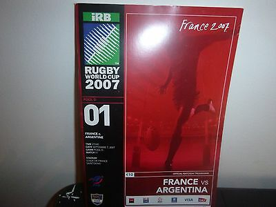 Rugby World Cup 2007   Opening Match Programme  France V Argentina