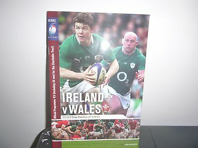 Ireland V Wales Rugby Programme Croke Park 2010