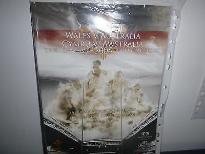 Wales V Australia Rugby Programme 2005