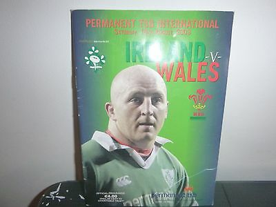 Ireland V Wales Rugby Programme 2003