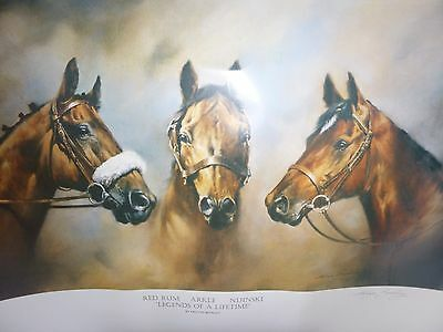 """ Legends Of A Lifetime "" Large Horse Print By Melyn Buckley"