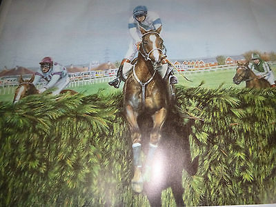 "Limited Edition Grand National Print "" Over The Last """