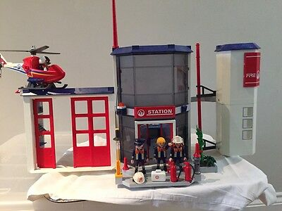 playmobil fire station And Fire Helicopter