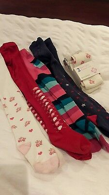 bundle of girls John Lewis tights age 2-3 new and used