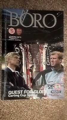 Middlesbrough v Arsenal - League Cup Semi Final Programme 03/02/2004