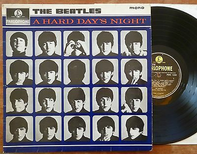 The Beatles - A Hard Day's Night LP 1964 1st Press Mono Parlophone PMC 1230 VG+