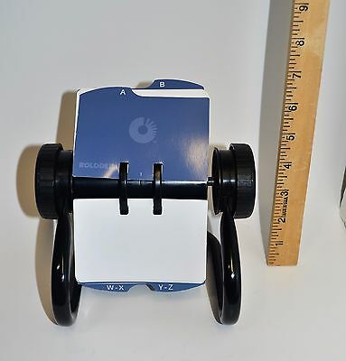 Rolodex Open Rotary Business Card File Black base #0