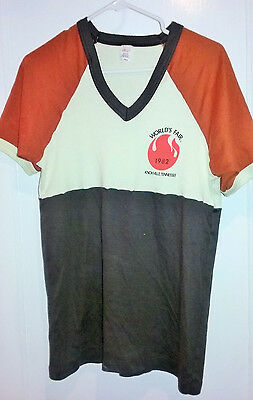 VTG 1982 World's Fair Knoxville Tennessee T-Shirt XL USA Polyester/Cotton 80s