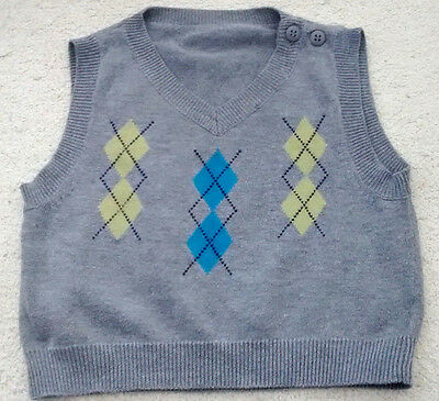 Baby Boy's knitted fairisle Pullover size 0-3 months by George