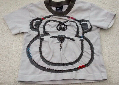 Baby Boy's short sleeved Tshirt with 'monkey face' motif 3-6 months by Next