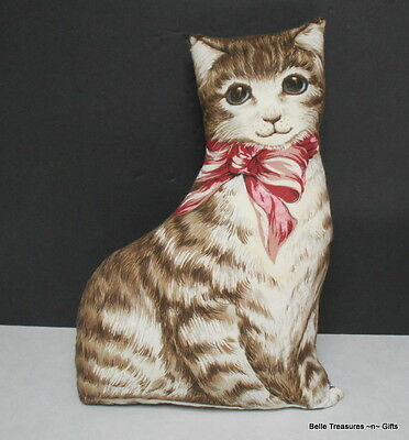 Brown Striped Cat Counch / Chair Pillow.