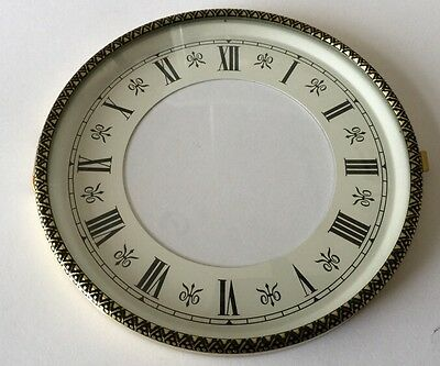 Emboss Brass Clock Bezel and Glass 130mm Roman Dial