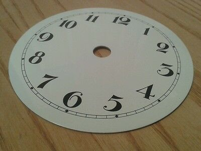 Enamel Clock Small Dial 101mm Arabic numerals