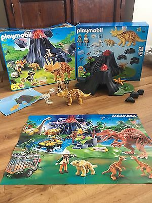 Playmobil 4170 Set. Triceratops With Volcano. Dinosaur. Boxed.